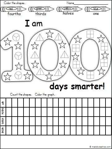 This Is A 100th Day Of School Fraction And Graphing Activity
