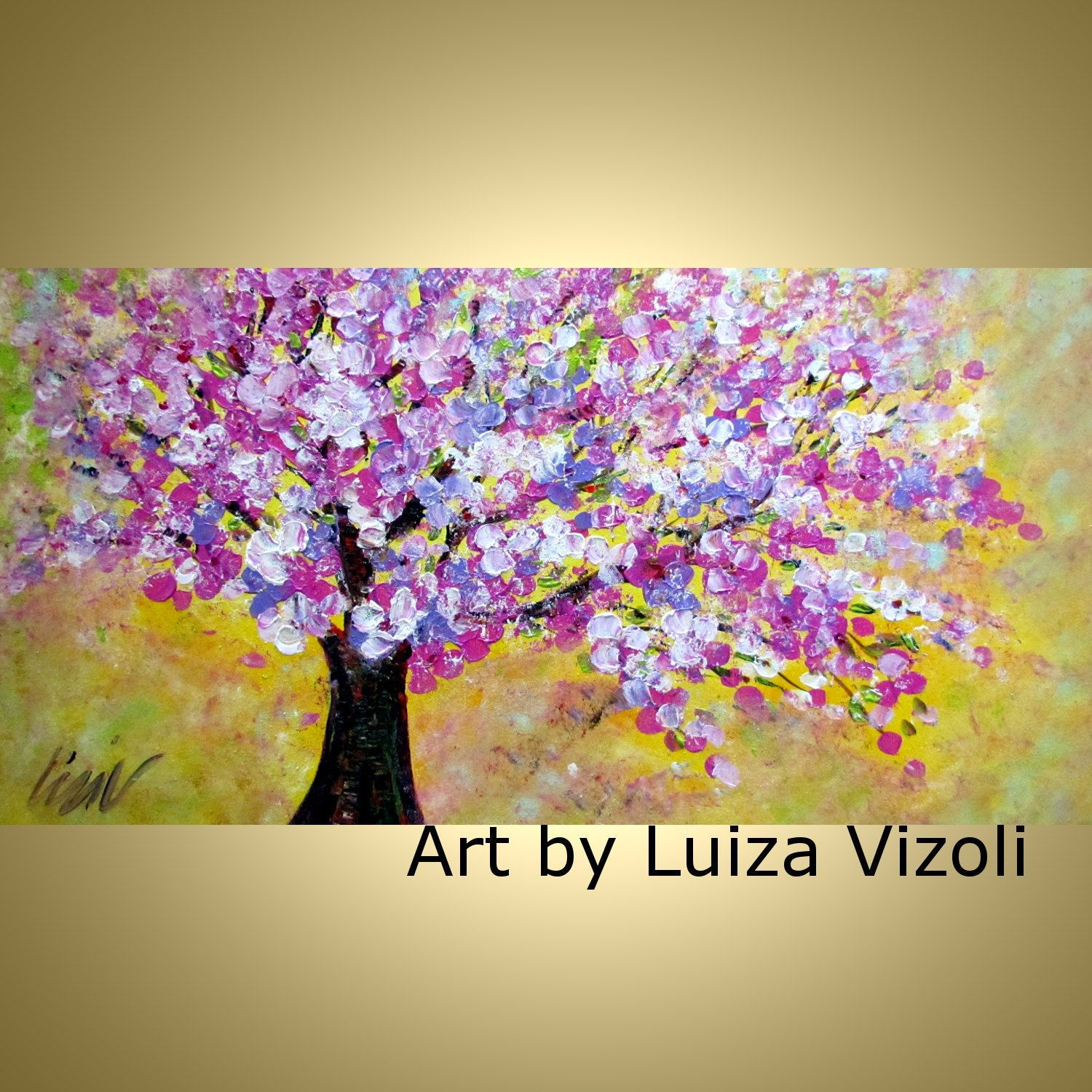 cool tree oil painting art | ... Oil Painting on Large Canvas Cherry ...