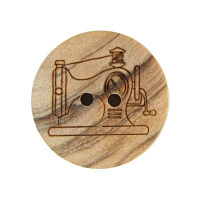 Houten knoop naaimachine (15)  - Massief hout - natuur