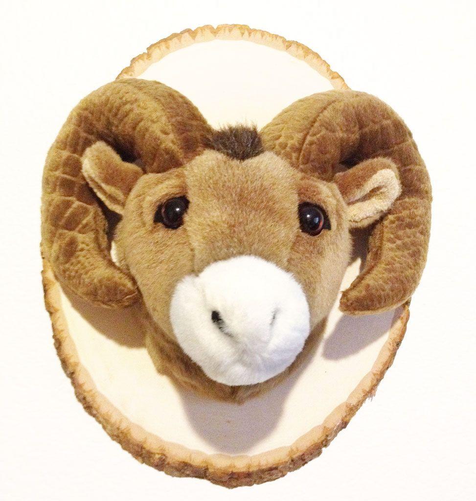 Stuffed Animal Trophy Head Mount Bighorn Sheep Ram The Cozy Cabin
