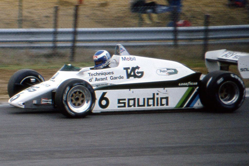 """Keijo Erik """"Keke"""" Rosberg (FIN) (TAG Williams Racing Team), Williams FW08 - Ford-Cosworth DFY 3.0 V8 (finished 2nd)"""