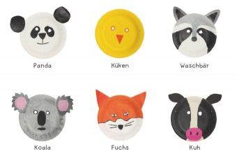 Pappteller Tiermasken Pdf Basteln Mit Und Für Kinder Pinterest