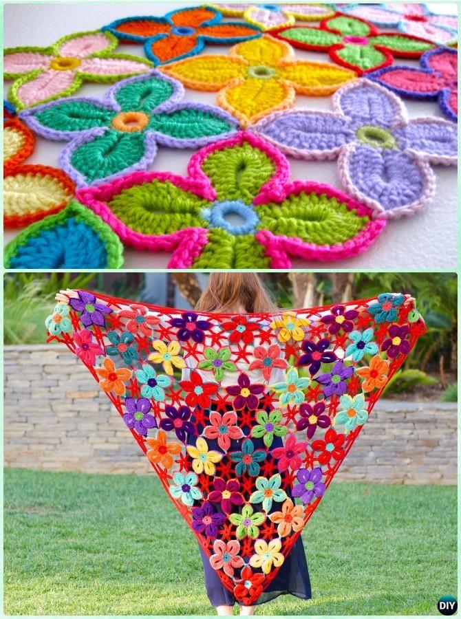 10 Crochet Women Shawl Outwear Free Patterns | Stricken häkeln ...