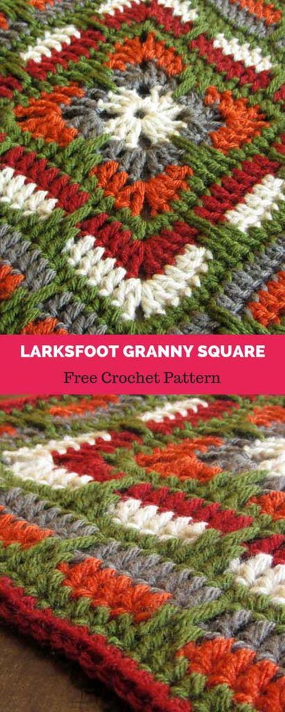 Larksfoot Inspired 12 Granny Square Free Crochet Pattern How To