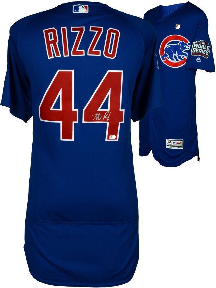 f2c90ed6 Anthony Rizzo Chicago Cubs 2016 World Series Champs Signed Blue Jersey