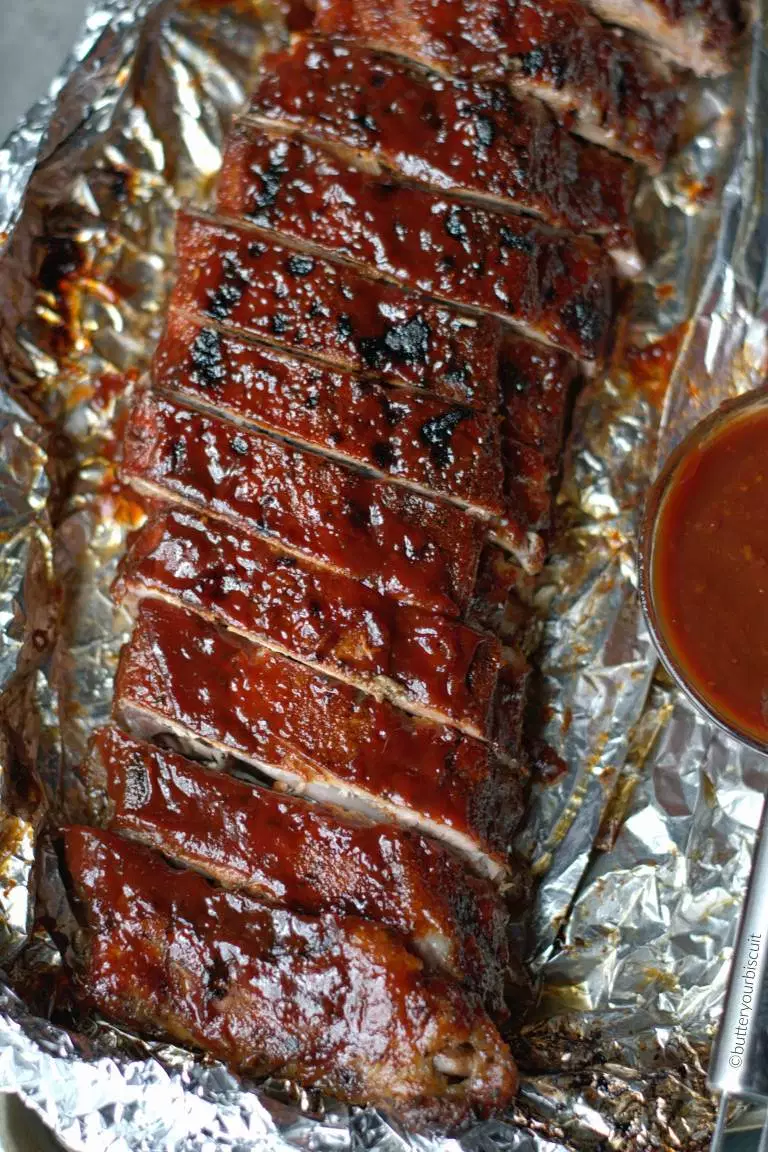 Easy Oven BBQ Baked Ribs Recipe - Butter Your Bisc