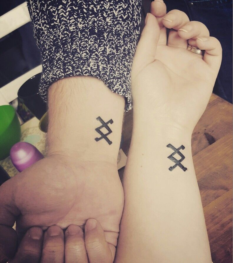 matching tattoos inguz where there 39 s a will there 39 s a way tattoo pinterest matching. Black Bedroom Furniture Sets. Home Design Ideas