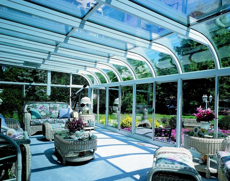 Curved Eave Sunroom | Gallery | Affordable Sunroom Kit More