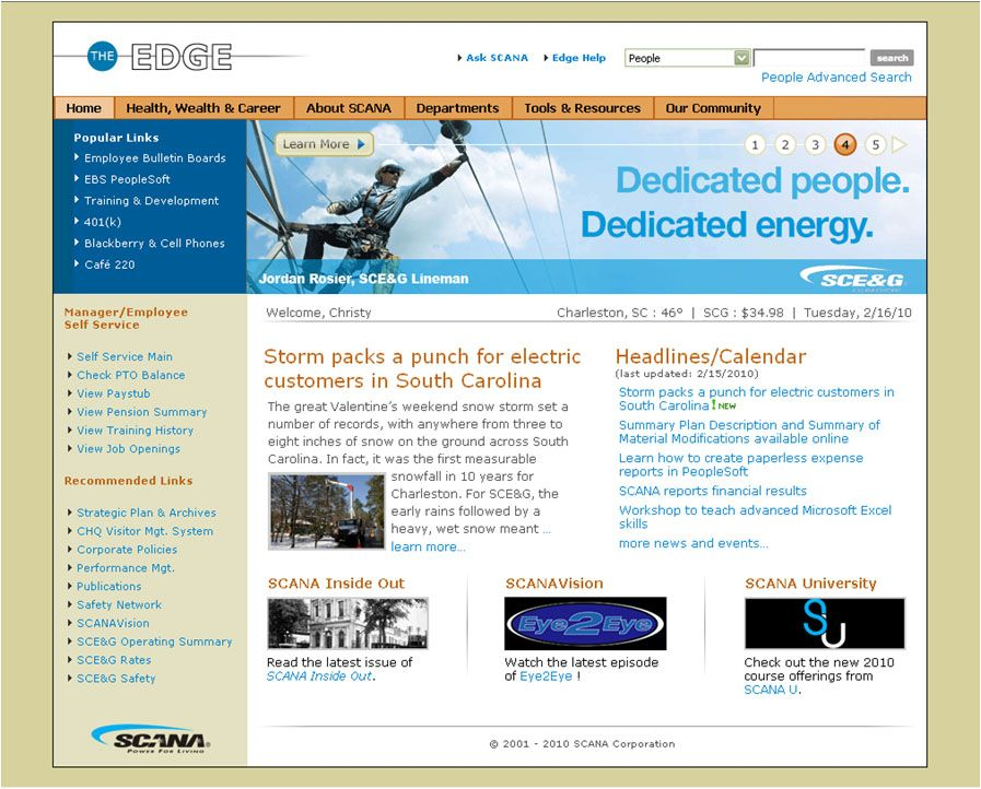 Intranet Examples Ims  Design Inspirations    Site