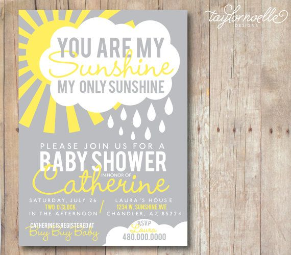 Printable 5x7 You Are My Sunshine Baby By TaylorNoelleDesigns