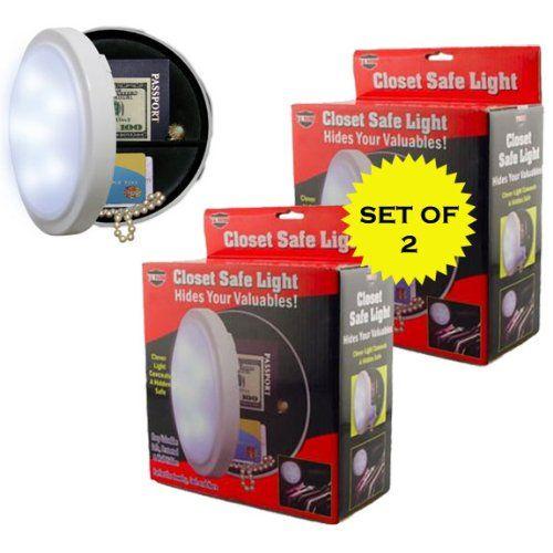 Closet Light With Hidden Safe Set Of 2 Ji Hidden Safe Closet Safe Closet Lighting