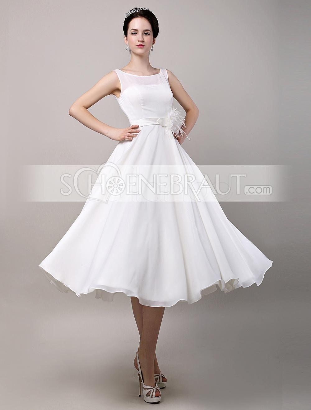 Audrey Hepburn Vintage Hochzeitskleid Tüll kurz mit Spitze ...