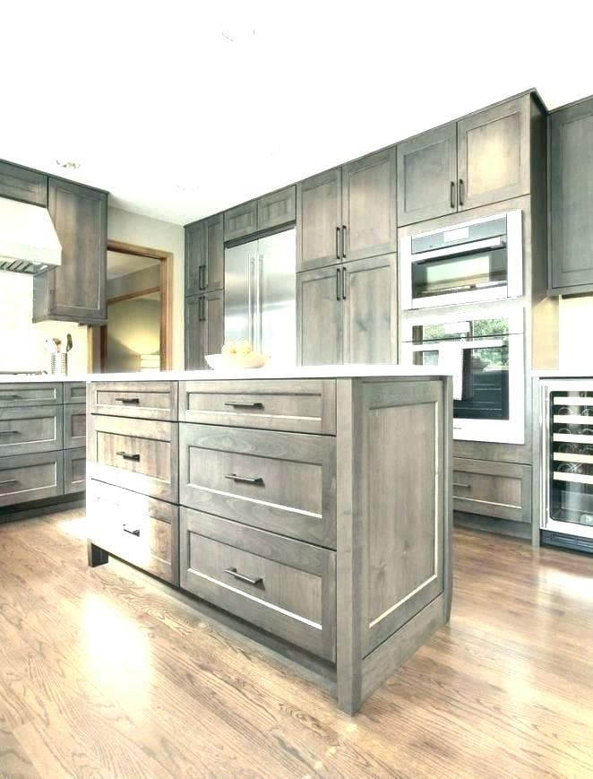 Image Result For Staining Wood Cabinets Grey Rustic Kitchen