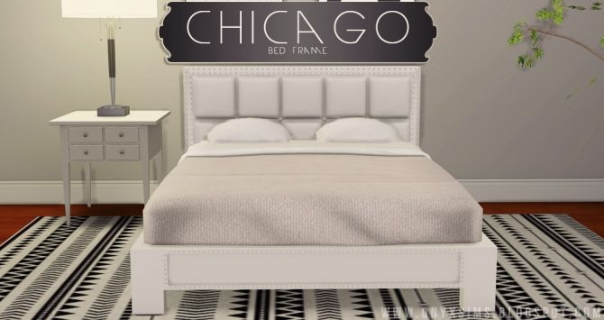 Chicago Bed Frame At Onyx Sims Via Sims 4 Updates Sims 4