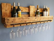 botellero para vino euro palets muebles estante de pared madera barra rstico - Europalets