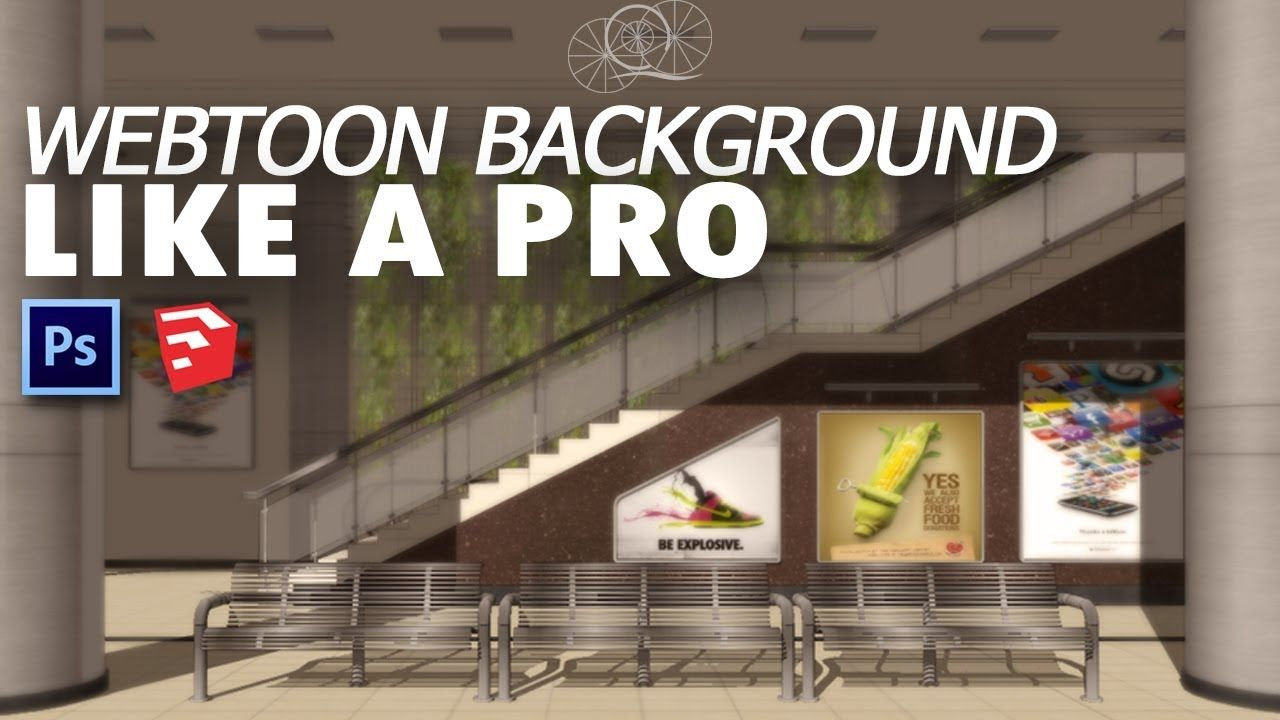 How To Make Webtoon Background Art Like A Pro Sketchup 3d Photoshop Easy Tutorial Youtube In 2020 Webtoon 3d Photoshop Easy Tutorial