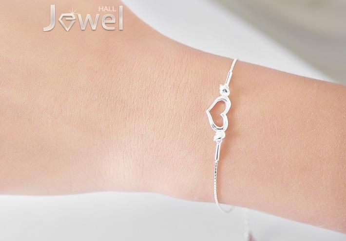 New Arrival Simple but Elegant 925 Silver Material Angle Love Cute Girl Bracelet : jewelhall.com