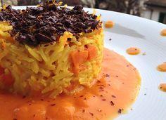 Timballo di riso alla zucca con cioccolato fondente   Food Loft - Il sito web ufficiale di Simone Rugiati