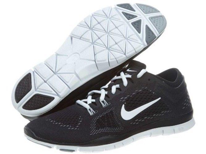 Nike Women\u0027s Free 5.0 TR Fit 4 Training Shoes 629496 001 Black/White/Grey
