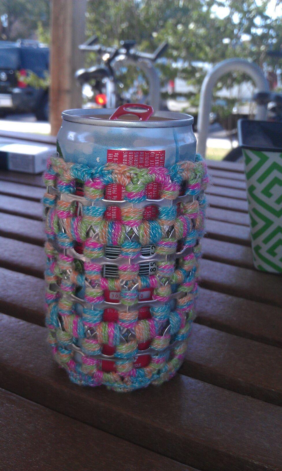 Soda pop tabs crafts - Crochet Pop Tab Can Coozy So Much Fun To Make Soda Tab Craftssoda