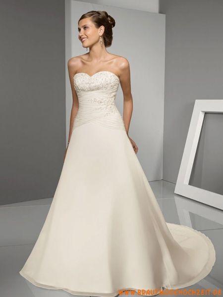 frankfurt billiges Brautkleid aus Satin A-Linie online ...