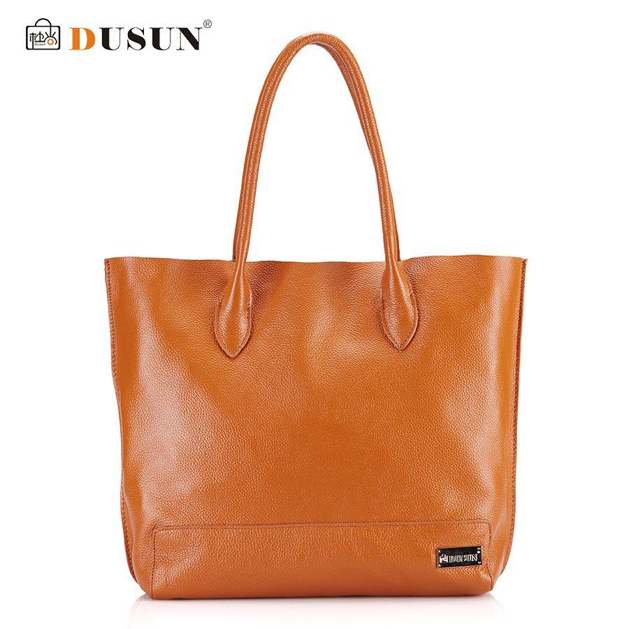aa49f32d7d DUSUN Genuine Leather Handbags Large capacity Women Bag Shoulder Bag Luxury  Handbags Famous Brands Designer Casual