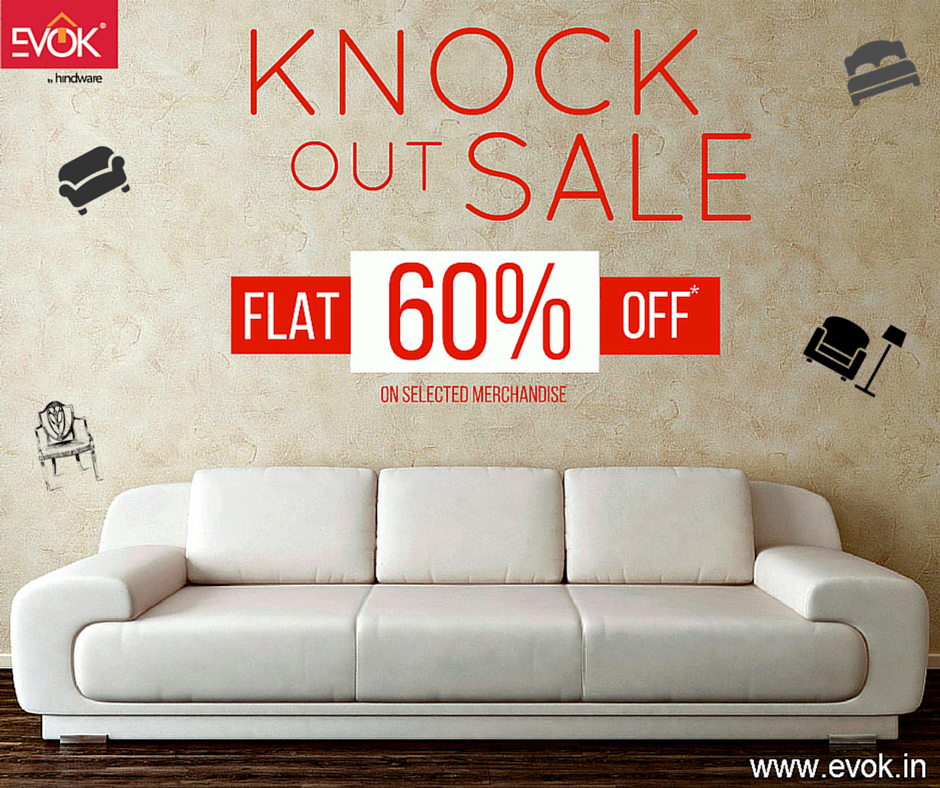 Knockout Sale is back!!! Upto 60% off on #furniture & #homedecor items. Shop now->http://bit.ly/1AGSLf4