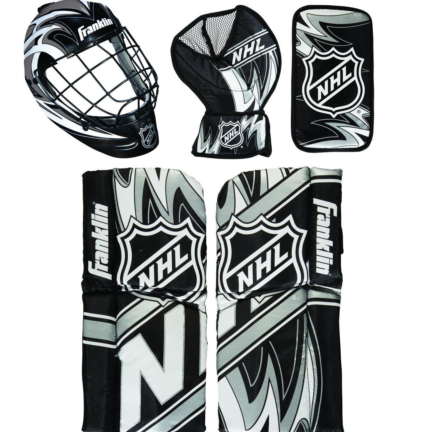 Children S Franklin Sports Nhl Mini Hockey Goalie Equipment Mask Set Ages 3 To 6 All Proceeds Go To The Disabled Hockey Goalie Equipment Hockey Goalie Gear