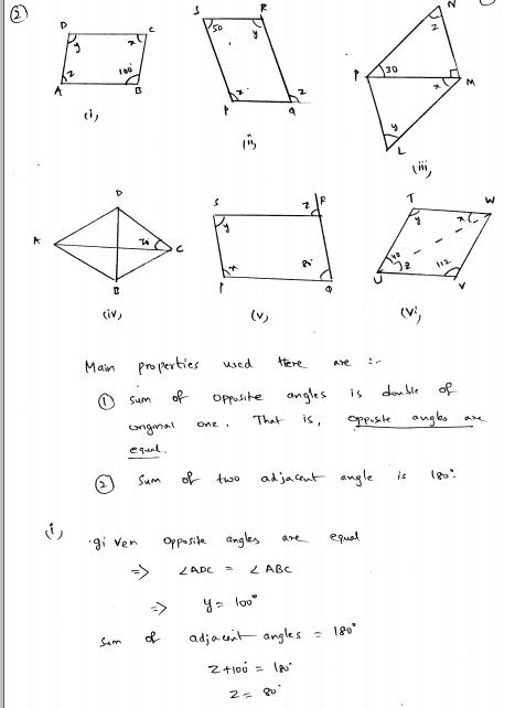 Understanding Shapes Iii Special Types Of Quadrilaterals Rd Sharma Solutions Quadrilaterals Solutions Understanding