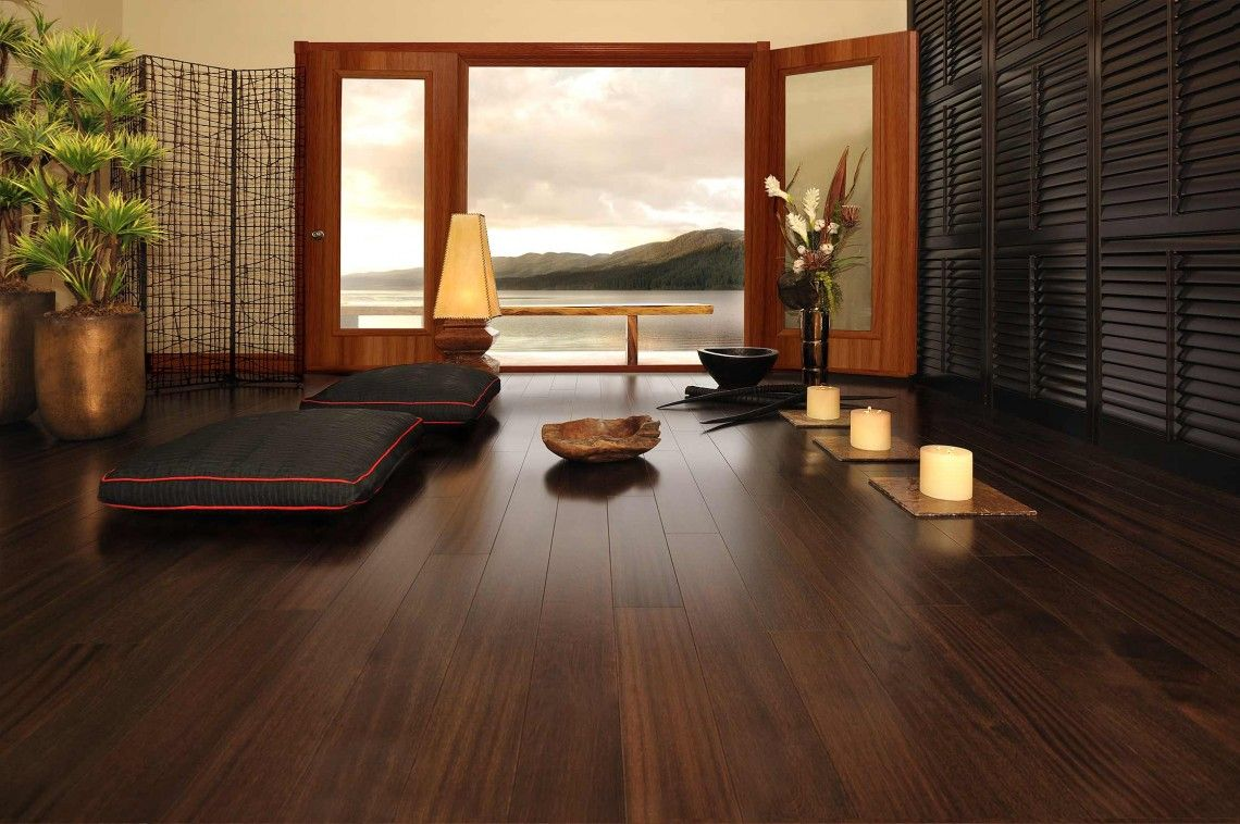 50 meditation room ideas that will improve your life dark flooringwooden - Dark Hardwood Garden Decorating