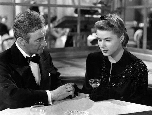 Ingrid Bergman & Claude Rains in Notorious (1946)   Claude rains, Ingrid  bergman, Hitchcock film