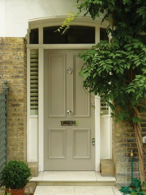 The London Door Company \'Mushroom\' paint colour - Satin | Front ...