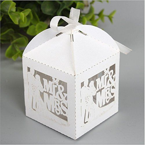 Ponatia 50pcslot Mr Mrs Wedding Candy Box Sweets Gift Favor Boxes