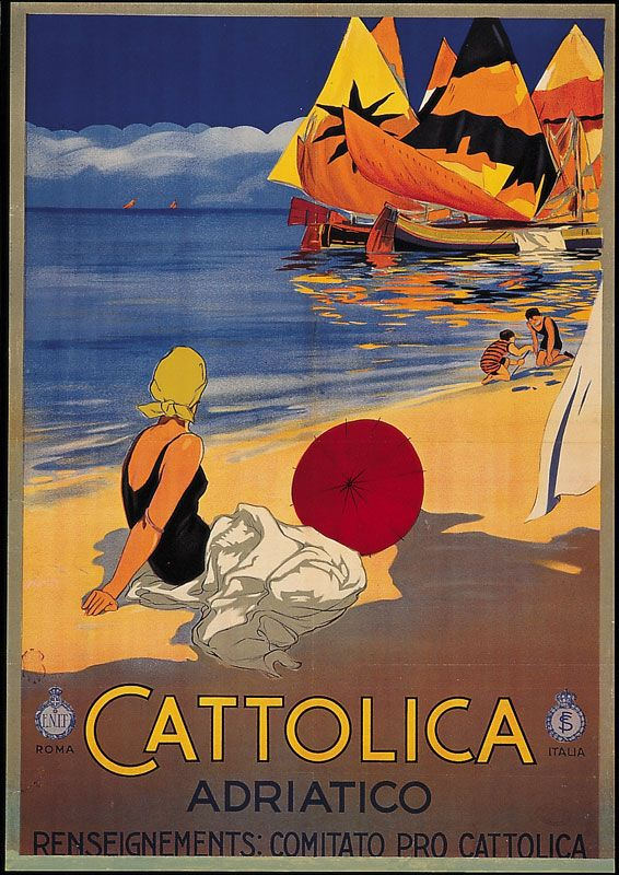 ITALY - Cattolica, Adriatico  #Vintage #Travel by Stab. A. Marzi, Roma, for ENIT (Ente Nazionale Italiano per il Turismo), between 1920 and 1930.