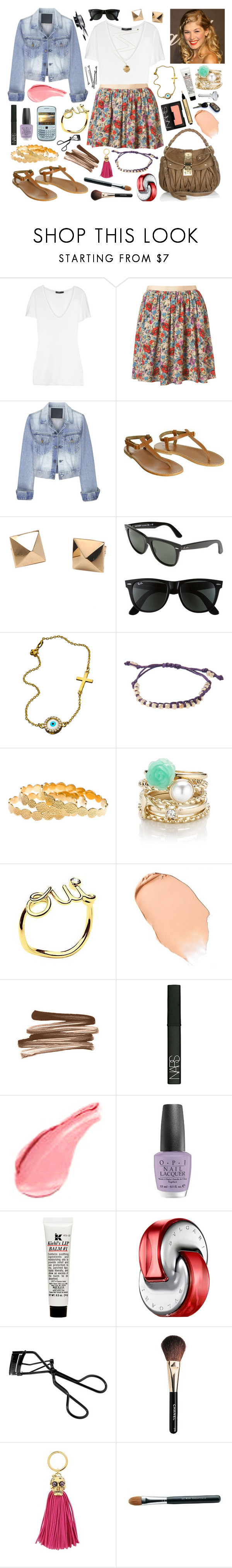 """04-06-12"" by belledenuit ❤ liked on Polyvore featuring Bassike, Bruuns Bazaar, Prada, CO, Han Cholo, Ray-Ban, Shashi, Melinda Maria, House of Harlow 1960 and Christian Dior"