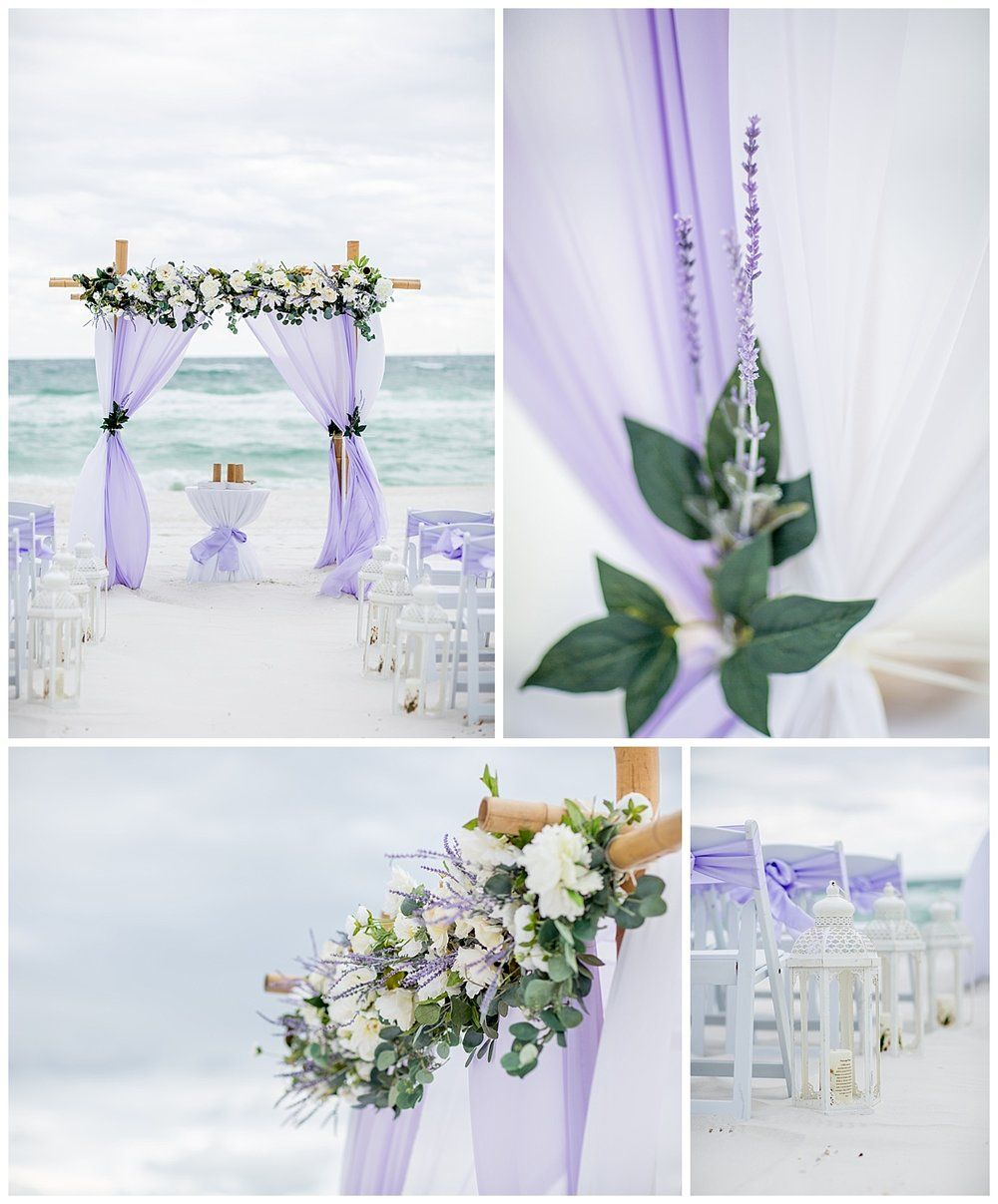 Beach Wedding Purple, Beach