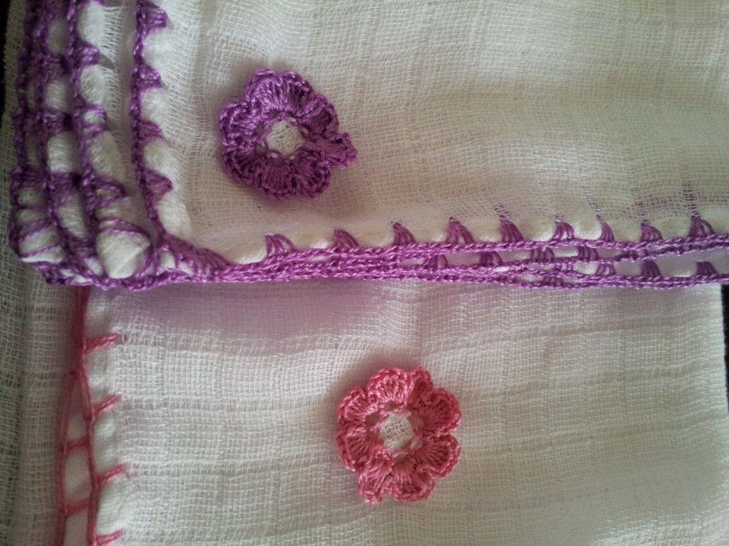 Baby Muslin Crochet Edge | Crafts | Pinterest