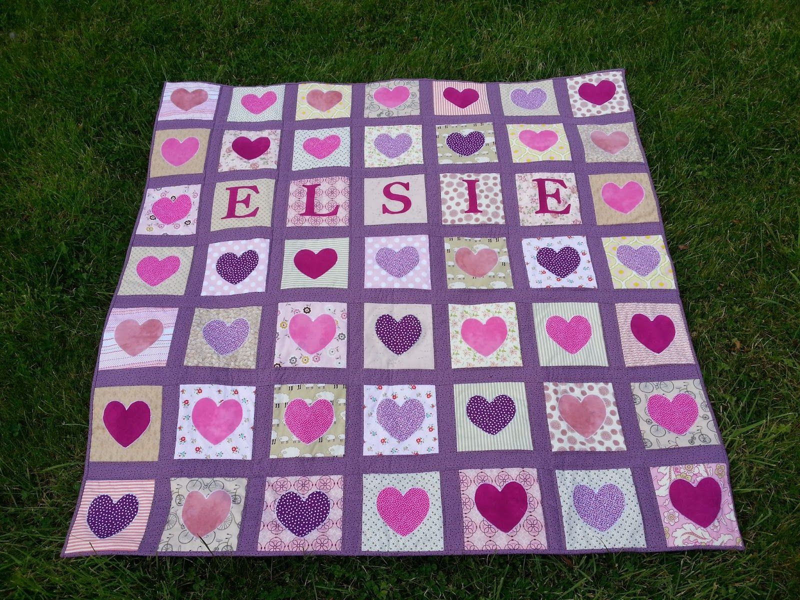 Personalised quilt die cut letters hearts from tuam quilt shop personalised quilt die cut letters hearts from tuam quilt shop galway appliqu spiritdancerdesigns Images