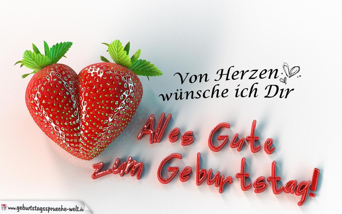 Gluckwunsche Zum Geburtstag Fur Den Partner Erdbeerherz