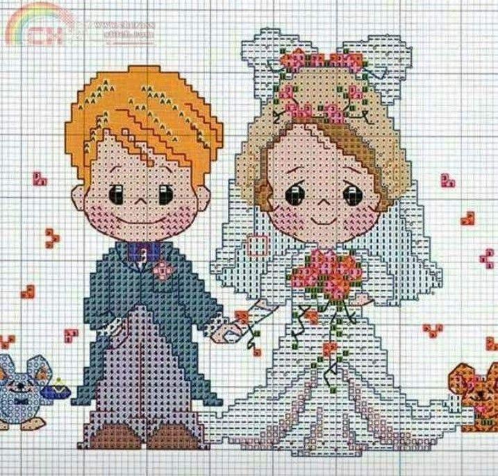 Картинка для вышивания свадебная