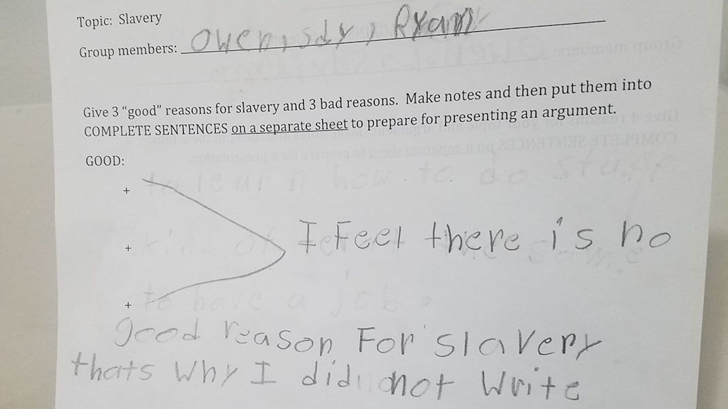 Teacher asks 4th graders to name good reasons for