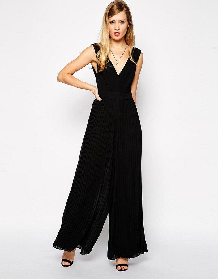Pin for Later: Jump Into One of These 50 Jumpsuits and Playsuits This Wedding Season!  Asos 70's Jumpsuit With Pleats ($48)
