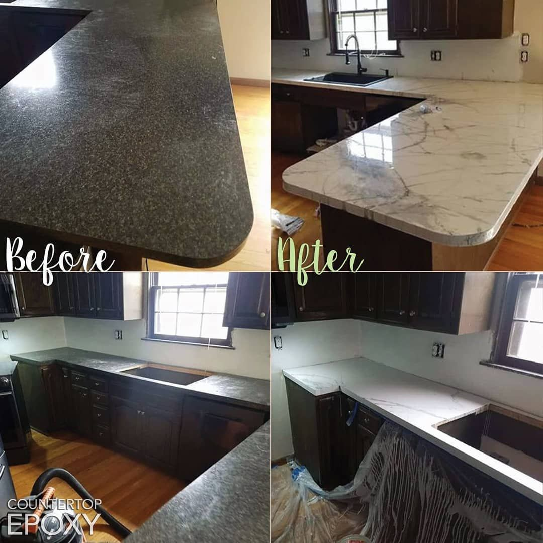 Our Customer Dakota Went Over His Old Laminate Countertops With