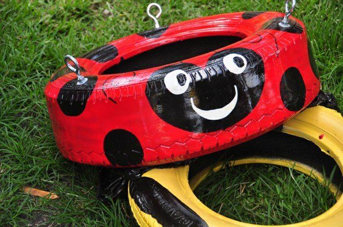 Alte Reifen als Schaukel benutzen - coole Upcycling Idee | garten ...