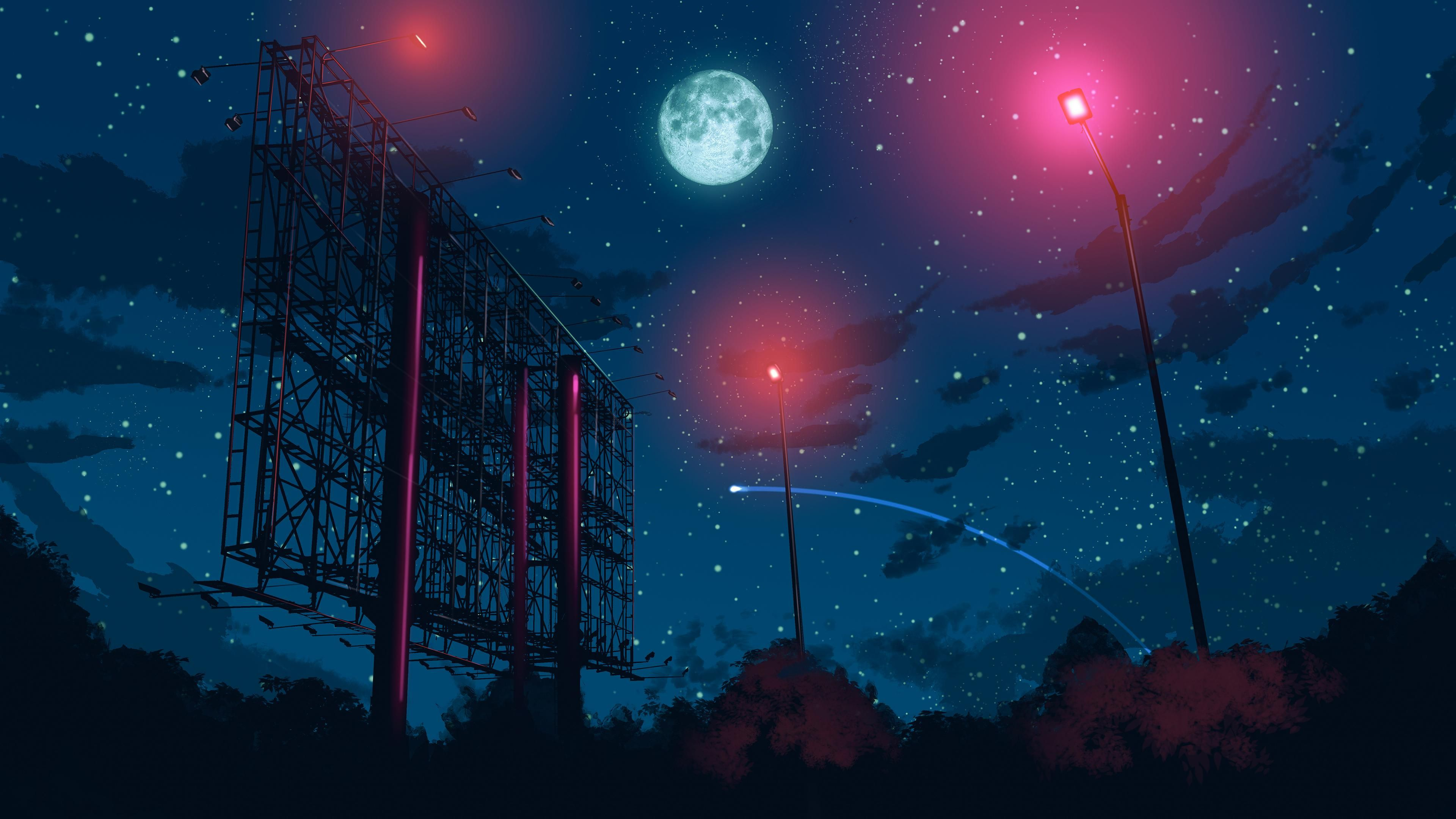 Anime Style Night Sky 3840x2160 Uncropped 6k Version Link In Comment Sky Aesthetic Night Sky Wallpaper Sky Anime