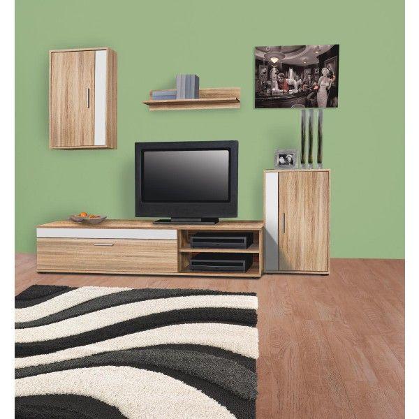 wohnwand lima sonoma nachbildung m bel pinterest kleine zimmer einrichten poco m bel und. Black Bedroom Furniture Sets. Home Design Ideas