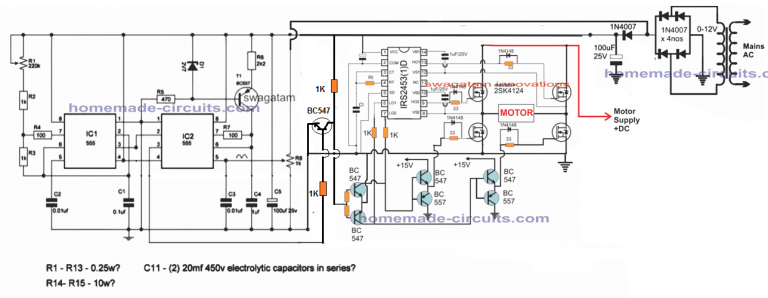 Single Phase Variable Frequency Drive Vfd Circuit Homemade Circuit Projects Electronic Schematics Circuit Circuit Projects