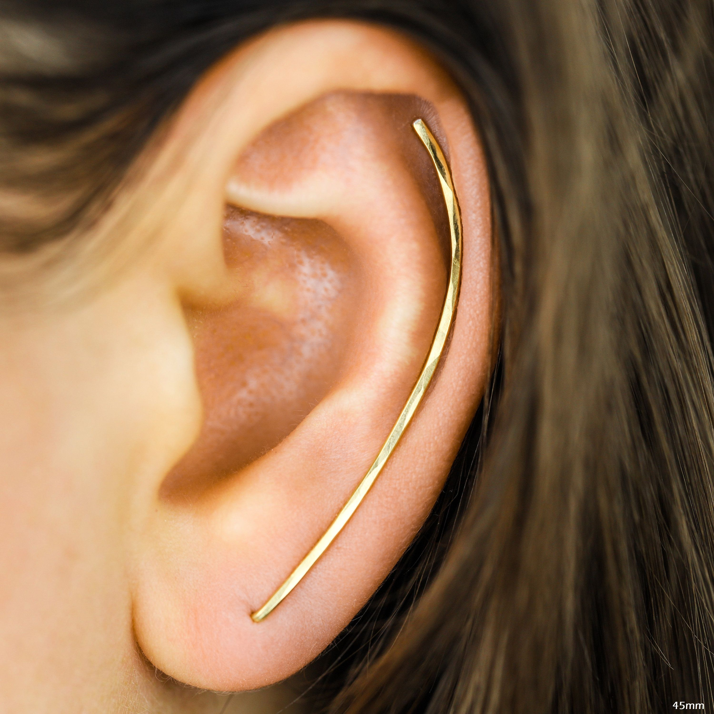 ear climber,beading blank,ear cuff,wire ear jacket,ear wrap,ear crawler,add a bead,round ear climber,ear sweep,ear pin,trendy earrings,blank