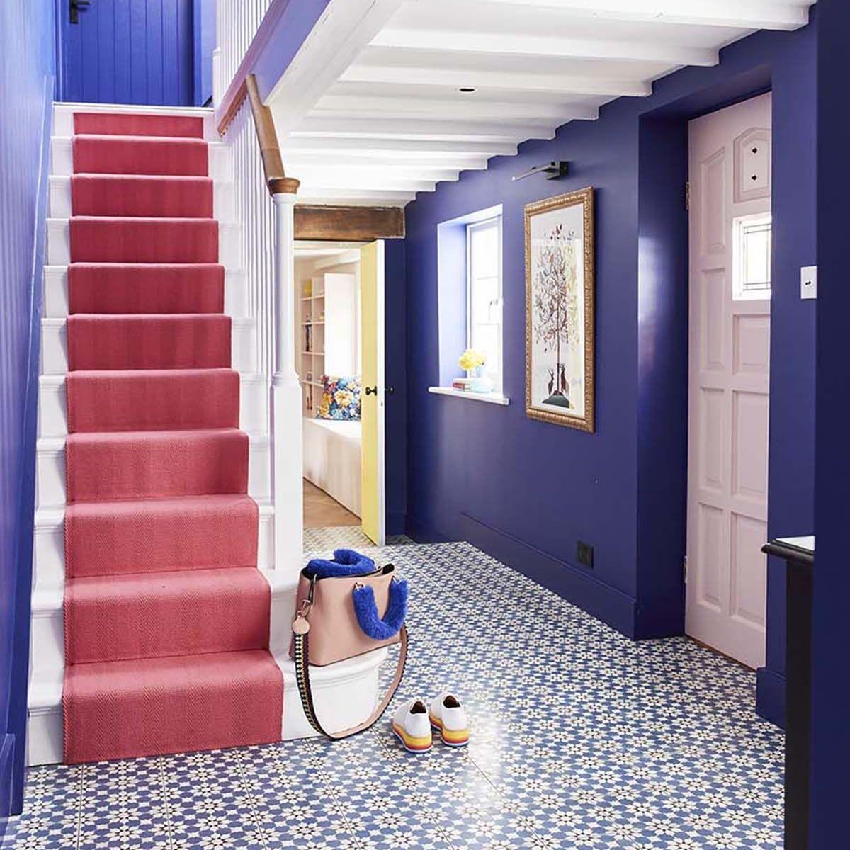 Lighting Basement Washroom Stairs: Sophie Robinson, Pink