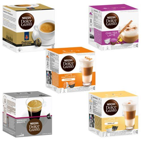 Nescaf Dolce Gusto Capsules ExoticSet 5 Varieties  5 x 16 Capsules ** Visit the image link more details.  This link participates in Amazon Service LLC Associates Program, a program designed to let participant earn advertising fees by advertising and linking to Amazon.com.